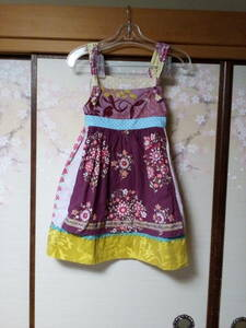 Laura Kae 女の子ワンピース 可愛い お洒落 サイズ5/6 花柄 エプロン
