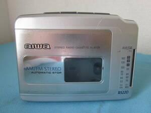 AIWA アイワ ラジオカセットプレーヤー HS-RS220 ★ジャンク