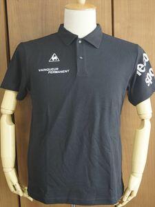 新品 ルコック le coq sportif ポロシャツ 吸汗速乾 半袖Tシャツ メンズ 黒 ブラック Mサイズ ゴルフウェア 襟 スポーツ 夏用 レジャー