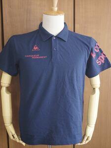 新品 ルコック le coq sportif ポロシャツ 吸汗速乾 半袖Tシャツ メンズ 紺 ネイビー Mサイズ ゴルフウェア 襟 スポーツ 夏用 レジャー