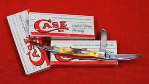 No.00197 Case-USA No.53032SSXX Medium Stockman Clip.sheepfoot and pen Blade : 3 lades Closed:3-5/8
