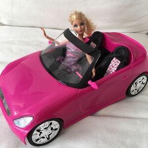 アメリカで購入 バービー ピンク 車 ドールセット 人形 バービー人形 barbie オープンカー 人形 ピンク