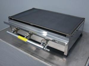03-1035 新品 兼光産業 鉄板焼器(プレス) TS-60 業務用 鉄板 焼き物器 ガス式 LP プロパン 卓上 ステンレス グリラー グリドル 厚み6㎜