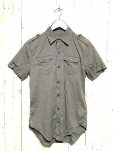 12800TL◆DIESEL ディーゼル◆サイズS 半袖シャツ ワークシャツ ミリタリーシャツ カーキ レディース カジュアル ミリタリー