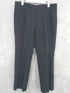 ◇ P.S.FA パーフェクトスーツファクトリー ストライプ パンツ サイズ94A6 ブラック メンズ 1002800962181