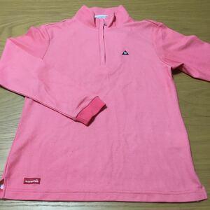 ルコックゴルフ le coq sportif 長袖シャツ 胸元ジップ プルオーバー S 女性用 ゴルフ 20-0608-07