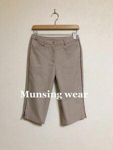 【美品】 Munsing wear golf マンシングウェア ゴルフ レディース ボトムス ハーフパンツ サイズ7 カーキ 日本製 デサント ILG8601