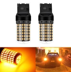 [2個セット] T20 LEDバルブ アンバー オレンジ ウインカー用 シングル ハイフラ防止抵抗内蔵 ピンチ部違い 【送料無料】