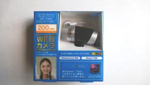 【新品未使用】webカメラ ELECOM製 UCAM-BT27062(200万画素 WEBカメラ)Google Microsoft Skype Windows10【送料無料】