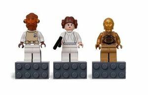 レゴ LEGO ☆ スターウォーズ ☆ ミニフィグ マグネット 3体セット(C-3PO・レイア姫(プリンセス・レイア)・アクバー提督) ☆ 新品・未開封