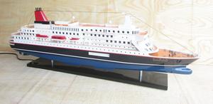 ●新品特価 豪華客船にっぽん丸ライト付 80cmL完成品