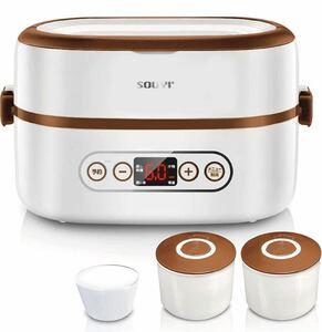 ソウイ (SOUYI) コンパクト マルチ 炊飯器 1合 [ タイマー予約/保温機能 ] ライスクッカー ひとり暮らし用 ミニ炊飯器 小型炊飯器 ホワイト