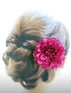 【Y89】 Japanese-style Western Hair Ornament Corsage Dary 4 Fuscher Pink