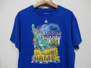 マジェスティック Majestic メジャーリーグベースボール Major League Baseball MLB 2013 ALL STAR GAME NEWYORK Tシャツ Mサイズ ブルー