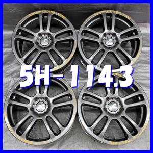 ■送料無料 A2■ 日本製/RAYS VERSUS TURISMO SPADA 17×7J+48 5H PCD114.3 ハブ径φ73 4本 ※ガンメタ系 1ピース/W5本スポーク