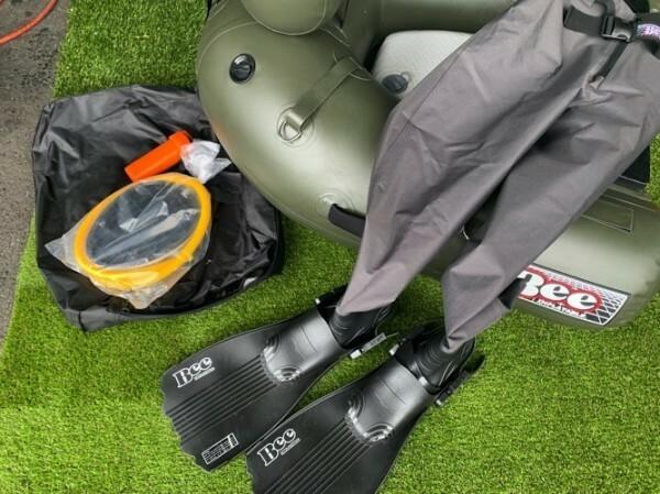フィン付き!BEE PVC ウエストウエダー541/ラジアル希望サイズ+フィン/フィンセーバーセット