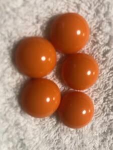 78 オレンジ ボタン 5個セット 約18㍉ 未使用品 手芸 裁縫