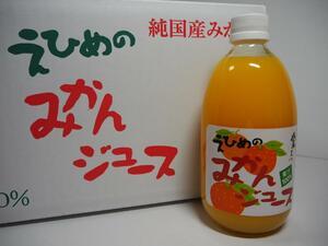 地元道の駅で人気!!愛媛県産果汁100%えひめみかんストレートジュース500mlx24本入り⑲
