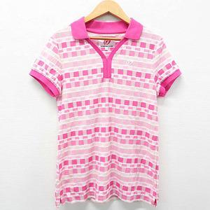 MASTER BUNNY EDITION マスターバニーエディション 2019年モデル 半袖ポロシャツ 総柄 ピンク系 1 [240001402556] ゴルフウェア レディース