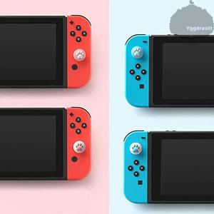 YGG★ジョイコン用 アナログスティック カバー シリコン素材 ピンク ブルー Joy-con ニンテンドースイッチ Nintendo Switch