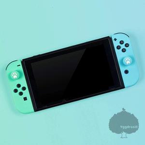 YGG★ジョイコン用 アナログスティック カバー シリコン素材 肉球 グリーン×ブルー Joy-con ニンテンドースイッチ Nintendo Switch