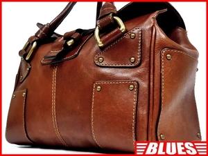 即決★NICOLI★レザーハンドバッグ ニコリ メンズ 茶 ブラウン 本革 トートバッグ 本皮 かばん 鞄 レディース 手提げバッグ