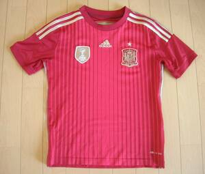 adidas スペイン代表 ユニフォーム 150 赤 観戦応援 2010年優勝タグ