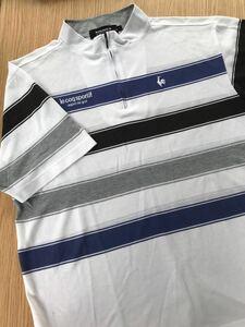 ルコック le coq sportif ルコックスポルティフ ゴルフウェアー Lサイズ 劣化品 メンズ シャツ