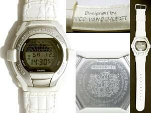 送料460円~(即決は送料無料) 1997年製CASIO G-COOLアントワープ アカデミー王立美術学院コラボGT-001AT-7白×銀ANTWERPホワイト×シルバー