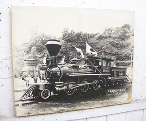 北海道鉄道100年記念・しずか号パネル・国鉄・機関車・中古品・142581