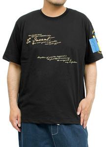 【新品】 2L ブラック98 半袖Tシャツ メンズ 大きいサイズ デザイン プリント クルーネック カットソー