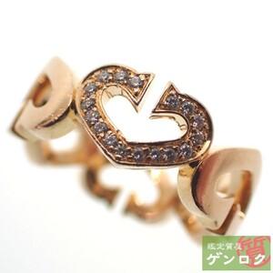【中古】 カルティエ Cハートリング ダイヤモンド K18PG (750) 13号 #53 ピンクゴールド リング・指輪 CARTIER【質屋】