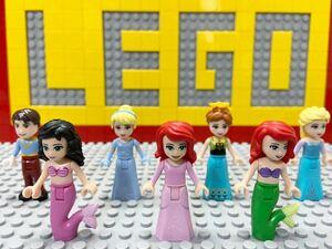 ☆ディズニープリンセス☆ レゴ ミニフィグ アリエル アナ エルサ シンデレラ など ( LEGO 人形 アナ雪 リトマーメイド