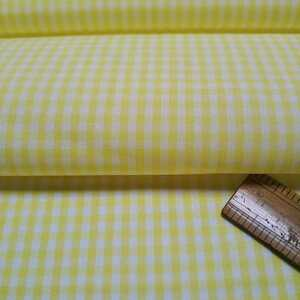 ギンガムチェック黄色・白/4m×巾108cm/日本製播州織/優しい肌触り/No.8502