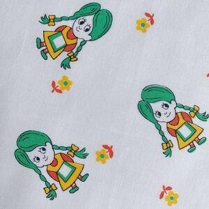 切売 92×50 子供柄 手作りマスク デッドストック 80's 昭和レトロ 生地 リメイク コレクター 布 ハンドメイド 女の子 ヘンテコ ビンテージ