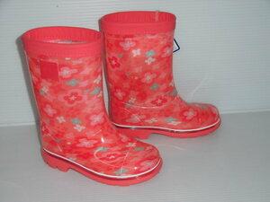 新品!即決!日本製 16cm 可愛いお花柄 MS RB C65 ピンク 子供 キッズ 長靴 レインシューズ