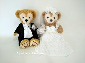 結婚式 ダッフィー & シェリーメイ ウェディングベア 衣装 コスチューム ウェディングドレス