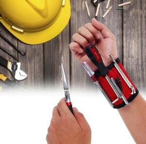 h522 磁気リストバンド ハンドラップツール 調節可能 電気技師 手首 ネジ ドリルホルダー ベルトブレスレット 修理