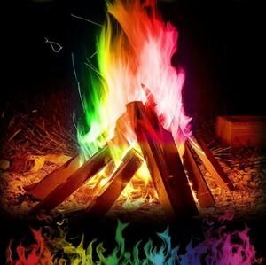 h642 インスタ映え 30gで60分楽しめる マジックファイヤー 魔法炎 たき火 キャンプファイヤー キャンプ 粉末 トリック 花火おもちゃ