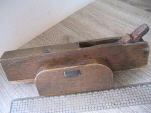 4501 鉋 基市決り鉋 登録商標あり 刃身幅約20mm 全長約255mm サビあり 中古 大工用品