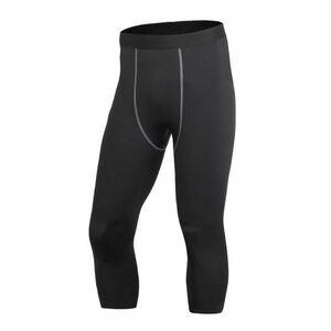 送料無料 新品 ランニングウェア 七分丈 タイツ メンズ XLサイズ ブラック パンツ トレーニング スポーツ アウトドア 加圧 スパッツ