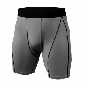 送料無料 新品 ランニングウェア タイツ ショーツ メンズ XLサイズ グレー パンツ トレーニング スポーツ アウトドア 加圧 KD69
