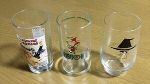 レトログラス リボンちゃん アンクルトリス トリス グラス コップ キャラクターグラス 非売品グラス 昭和グラス 昭和レトロ