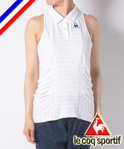 ◆新品 le coq sportif ルコック テニス 4大大会コレクション ノースリーブポロシャツ レディス O LL ホワイト 白 定価8,690円 吸汗速乾