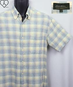 《郵送無料》■Ijinko美品★エディーバウアー Eddie Bauer S サイズ半袖シャツ