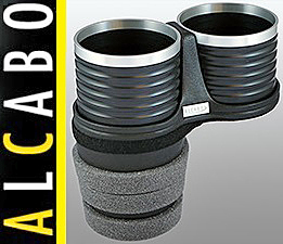 【M's】F07 F10 F11 BMW 5シリーズ ALCABO ドリンクホルダー ブラック+アルミリング カップタイプ//AL-B112BS ALB112BS カッブホルダー