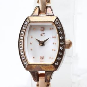 H529T 4℃ クオーツ 腕時計 レディース シェル文字盤 純正ベルト 余りコマ