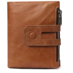 新品 メンズ 財布 カードケース 牛革 多機能 シンプル ライトブラウン