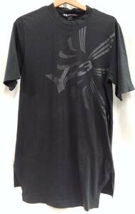 YOHJI YAMAMOTO × adidas ヨウジヤマモト アディダス Y-3 ワイスリー メンズTシャツ Sサイズ 黒 ブラック BS3429 16C001