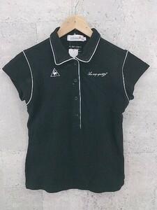 ◇ le coq sportif golf collection ルコックスポルティフ 半袖 ポロシャツ サイズL ブラック レディース 1002800820030